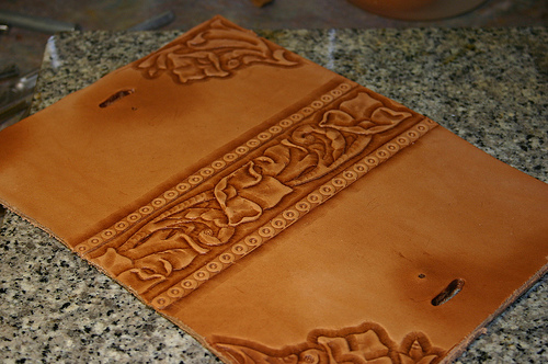 How To Make A Book Cover With Leather : The gallery for gt how to make a leather book cover